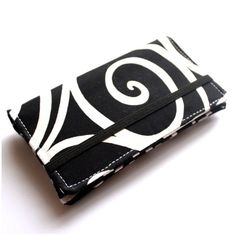 Black and White Swirl Wallet