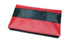 porte-chéquier format portefeuille rouge simili cuir par Kipapee