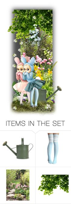 """""""Everybunny Loves Spring !"""" by auntiehelen ❤ liked on Polyvore featuring art"""