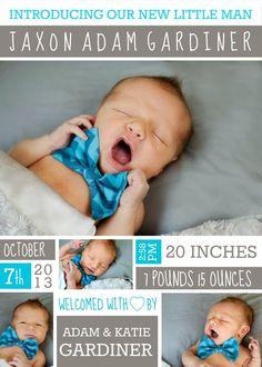 cute baby announcement idea!