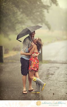 In the rain! Life brings the unexpected but we will always stick together. <3