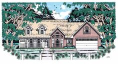 Eplans Country House Plan - Easy Country Elegance - 1801 Square Feet and 3 Bedrooms from Eplans - House Plan Code HWEPL12182