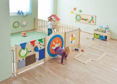 Creating Classrooms - HABA Classroom Furniture and Play Equipment Kindergarten Interior, Kindergarten Design, Daycare Rooms, Home Daycare, Daycare Nursery, Baby Play Areas, Daycare Design, Toddler Classroom, Preschool Classroom