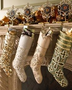 Hang creative Christmas stockings to your holiday home. Look at these inspirational ideas of various styles to fit every home decor and your family lifestyle. Merry Christmas, All Things Christmas, White Christmas, Christmas Holidays, Elegant Christmas, Happy Holidays, Modern Christmas, Simple Christmas, Christmas Ornaments