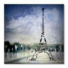 "East Urban Home Digital Art Paris Eiffel Tower No.1 Graphic Art Size: 10"" H x 10"" W"