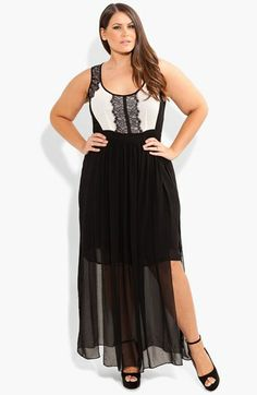 City Chic 'Sheer Romantic' Maxi Dress  available at #Nordstrom