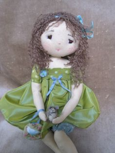 so cute fabric doll, very artistic and sweet