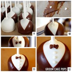 How to make Bride and Groom wedding cake pops