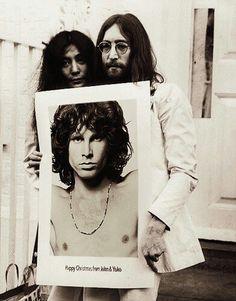 John and Yoko with pic of Jim