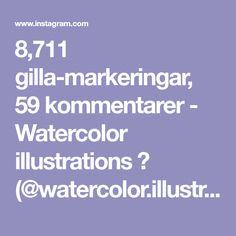 "8,711 gilla-markeringar, 59 kommentarer - Watercolor illustrations 🎨 (@watercolor.illustrations) på Instagram: ""🎨 Watercolorist: @honeybopsdesigns #waterblog #акварель #aquarelle #painting #drawing #art #artist…"""