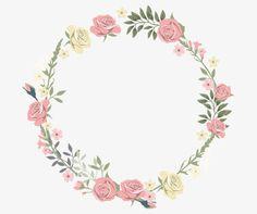 Rose decorative circular border