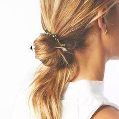 Bun holder for hair Gold colored bun holder Accessories Hair Accessories