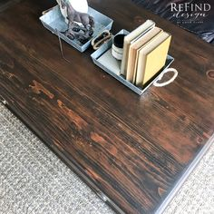 Can you believe how gorgeous this is? Truly a one of a kind coffee table; full of character and charm, and enhanced with an authentic reclaimed barn wood finish using General Finishes Water Based Stains and Dyes. This table features four drawers and printers cabinet inspired hardware from D. Lawless Hardware to give it that true curated farmhouse feel. This perfect farmhouse piece will be the center of your room!