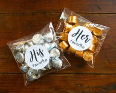 His and Her Favorite wedding favor bags 10 his & 10 hers wedding favor welcome bag favor stickers Matte white Kraft brown favor bags - Clementine Weddings on Etsy - August 03 2019 at Creative Wedding Favors, Inexpensive Wedding Favors, Elegant Wedding Favors, Wedding Gifts For Guests, Wedding Favors For Guests, Diy Wedding, Handmade Wedding, Summer Wedding, Personalized Wedding