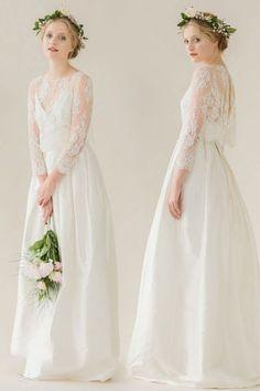 Lace white wedding dress
