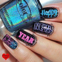 new year by heartnat24 #nail #nails #nailart