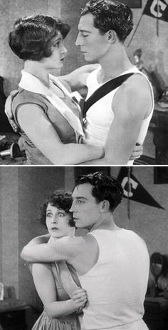 "Anne Cornwall and Buster Keaton, ""College"" 1927. #BusterLove"