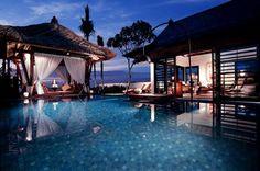 tropical/pool/beach/sunset- in one on Bali <3