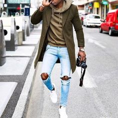 Mens Fashion Hipster – The World of Mens Fashion Hoodie Outfit, Stylish Men, Men Casual, Urban Fashion, Mens Fashion, Traje Casual, Moda Blog, Look Man, Herren Outfit