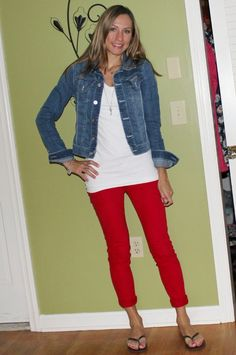 Casual Chic Mom: RED WHITE & BLUE CASUAL