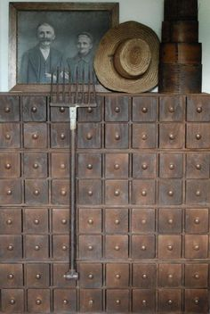 I've always loved apothecary chests like this one. It's perfect for bits and bobs, like jewelry making supplies.