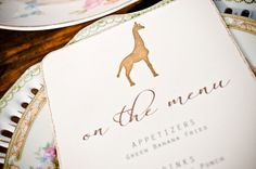 Vintage Desert Safari Wedding Menu by WeddingGirl on Etsy