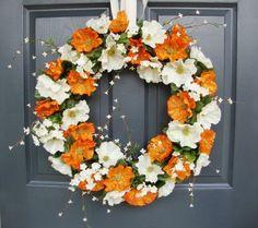 XL Spring Poppy Wreath