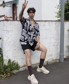 walterbarrettenjoy - 0 results for vintage outfits Korean Fashion Men, Korean Street Fashion, Fashion Mode, Retro Fashion Mens, Male Summer Fashion, Boys Fashion Style, Teen Guy Fashion, Fashion Casual, Boys Style