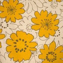 Japanese Linen Floral Mustard
