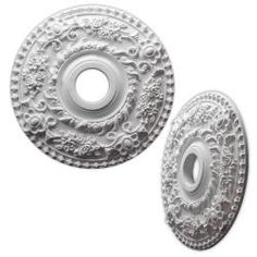 Floral Wreath 18-inch Ceiling Medallion | Overstock™ Shopping - Big Discounts on Molding