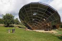 The Heliodome, a bioclimatic solar house is seen in Cosswiller in the Alsacian countryside near Strasbourg, Eastern France, August 4, 2011.