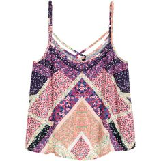 Singlet met V-hals 9,99 found on Polyvore featuring tops, t o p s, h&m and shirts
