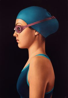 Big Swimmer, painting | DegreeArt.com The Original Online Art Gallery