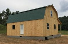 Gambrel Cabins Cabin House Plans, Log Cabin Homes, Cottage Homes, Barn Homes, Log Cabins, Small Shed Plans, Small Sheds, Gambrel Barn, Wooden Buildings