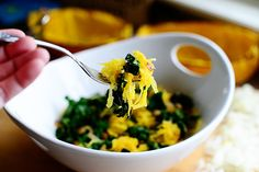 Roasted Spaghetti Squash with Kale from Pioneer Woman