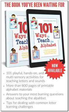 Ways to Teach the Alphabet: A Hands-On Approach to Teaching Letters and Sounds Through Play Teaching your child the alphabet may be the MOST IMPORTANT thing you can do to help your child become a successful reader, and this book makes it fun & easy. Phonemic Awareness Activities, Creative Activities For Kids, Science Activities For Kids, Literacy Activities, Teaching Sight Words, Teaching The Alphabet, Preschool Alphabet, Preschool Kindergarten, Preschool Ideas