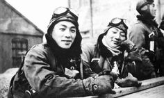 Japanese navy ace Lt. Naoshi Kanno with other pilots of the 343rd Kōkūtai, he destroyed 48 American planes most of then hellcats fighters.