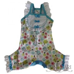 Tonimari Pajama Spring Owls White Aqua