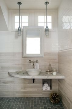 this picture gave me the idea of using the mirror you made, Bill, for the bathroom vanity.  i love the look, plus it is a nicer size than the existing one.  Would it be possible/practical to build a medicine chest and use the mirror as the door?