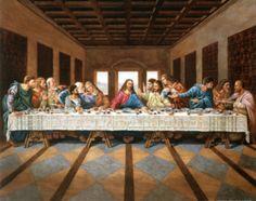 Last Supper Art Print Poster Jesus Christ Leonardo da Vinci Masterprint at AllPosters.com