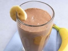 SKINNY CHOCOLATE BANANA PROTEIN SMOOTHIE  I want to pass along a new protein shake recipe that I came up with….I have been drinking a lot of shakes lately as they are easy and fast, which is exactly what I need right now. Hope you enjoy!