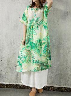2f003ee239 linen dress Oversized dress summer dress Loose maternity dress boho dress