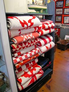 red and white antique quilts-  This is the same idea I have for Crystal as a surprise but not all the same colors.  She'll think that she is just getting the cabinet.