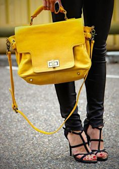 For some women, buying an authentic designer handbag just isn't something to rush into. As these bags can be so high priced, most women in some cases agonize over their selections before making an actual ladies handbag purchase. Yellow Purses, Yellow Handbag, Bags Online Shopping, Online Bags, Gucci, Zara, Cute Purses, Mellow Yellow, Bright Yellow