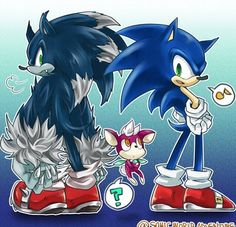 Sonic, Chip, and Sonic the Werehog