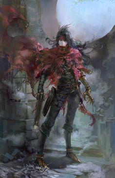 Dark Fantasy, Fantasy Art, Vincent Valentine, Final Fantasy Vii Remake, Fantasy Setting, Angel Art, Cute Characters, Artist Names, Anime Guys