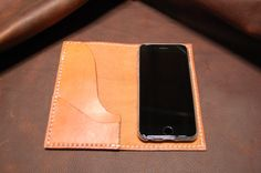 Leather iPhone 6 Phone Case Phone Wallet by UrbanGuerrilla63