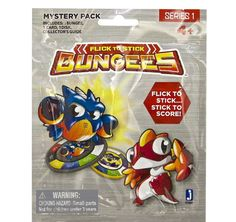 Birthday Party favors, Cool Kids Birthday Party Game Prize b/c its a mystery/surprise inside which will grab their attention and engage them!!! Flick to Stick Series 1 Bungees Mystery Pack Ages 6+   New/Sealed!! Fun Suprise! #Jazwares Party/Holiday Accessories for ideas & games