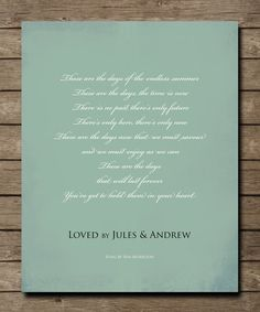 The pretender jackson browne jackson baby pinterest items similar to personalized song lyrics wall art these are the days van morrisson poster print choose your own song on etsy stopboris Gallery