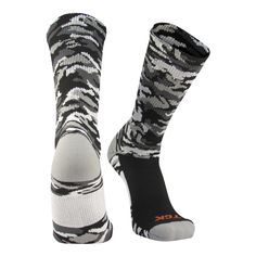 TCK Woodland Camo Elite Crew Socks for basketball, football, lacrosse. Youth Shoes, Camo Colors, Woodland Camo, Custom Socks, Sport Socks, Lycra Spandex, Lacrosse, Corporate Gifts, Knitting Socks